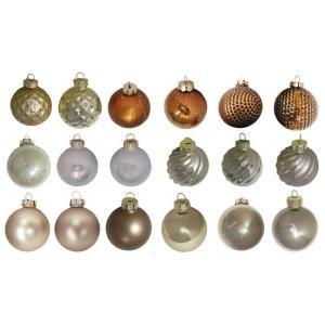 2.3 in. Gold, Silver and Copper Glass Ornament (50-Piece)