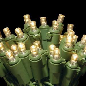 50-Light LED Soft White Concave Bulb Light String Set