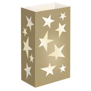 Gold Star Luminaria Bags (Set of 12)