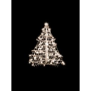 2 ft. Indoor/Outdoor Pre-Lit Incandescent Artificial Christmas Tree with White Frame and 100 Clear Lights
