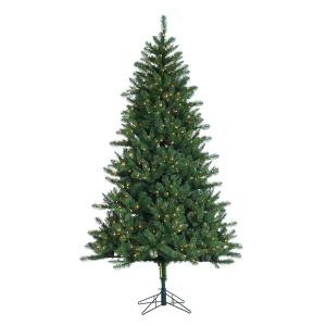 7.5 ft. Pre-Lit Electrified Pole Hawthorne Pine Artificial Christmas Tree