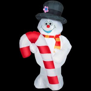 4 ft. Inflatable Airblown Outdoor Frosty the Snowman with Candy Cane