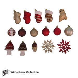 Winterberry Assorted Ornament Set (Set of 71)