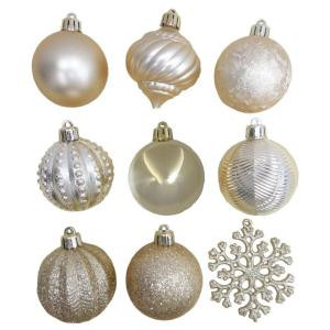 2.3 in. Gold Shatter-Resistant Ornament (101-Piece)
