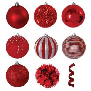 Variety Red Ornament Pack (40-Count)