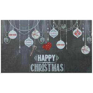Elegant Entry Chalkboard Ornament 17 in. x 29 in. Door Mat