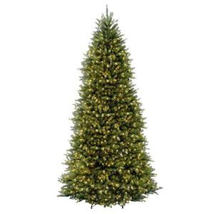 12 ft. Dunhill Fir Slim Artificial Christmas Tree with Clear Lights