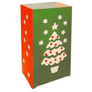 Plastic Christmas Tree Luminaria Lanterns (Set of 12)
