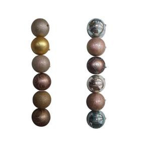 150 mm Gold/Silver Ball Ornament (Set of 6)