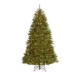 9 ft. Royal Douglas Fir Hinged Tree with 700 Dual LED Lights and Plastic Caps