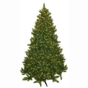 7.5 ft. Pre-Lit Carolina Fir Artificial Christmas Tree with Clear Lights