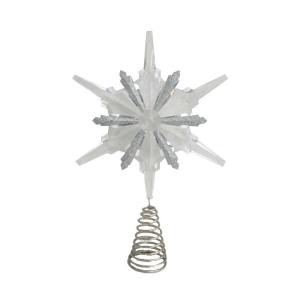 Holiday Frost 13 in. Christmas Acrylic Snowflake Tree Topper