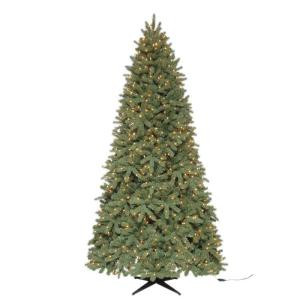 9 ft. Pre-Lit Downswept Wimberly Spruce Artificial Christmas Tree with SureBright Clear Lights