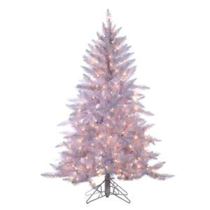 4.5 ft. Pre-Lit White Ashley Artificial Christmas Tree with Clear Lights