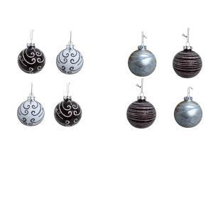 80mm x 8pcs Glass Ball Ornament