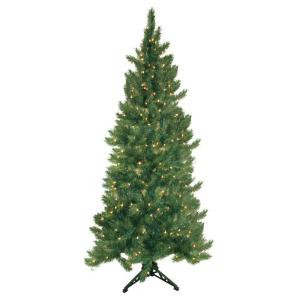 6.5 ft. Pre-Lit Quarter Artificial Christmas Tree with Clear Lights