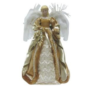 18 in. Tabletop or Tree Topper Angel with Shimmer Gown
