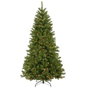 7 ft. North Valley Spruce Artificial Christmas Tree with Warm White LED Lights