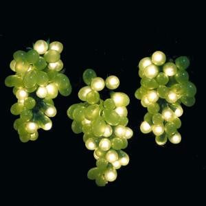 100-Light Micro Bulb Cluster Green Grape Light Set