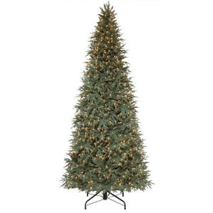 10 ft. Pre-Lit Meadow Fir Quick-Set Artificial Christmas Tree with SureBright Clear Lights