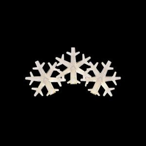50-Light LED Warm White Snowflake Light Set