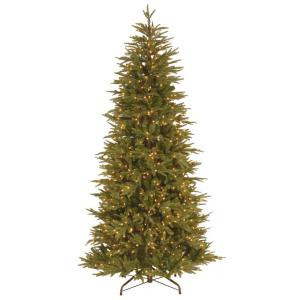 7.5 ft. Deluxe Fraser Fir Slim Artificial Christmas Tree with Clear Lights