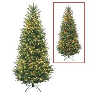 6 ft. Natural Fraser Slim Fir Artificial Christmas Tree with Dual Color