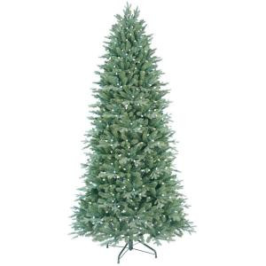 7.5 ft. Pre-Lit LED Just Cut Deluxe Aspen Fir Artificial Christmas Tree with Color Choice Lights