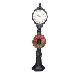 24 in. Holiday Clock with LED Light