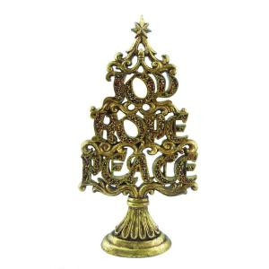 18 in. Gold Beaded Tree Tabletop Decoration