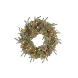 30 in. Alaskan Spruce Artificial Wreath with Pinecones