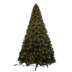 12 ft. Pre-Lit Noble Pine Artificial Christmas Tree with 1450 Clear Lights