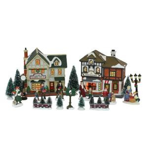 Lighted Christmas Village Set (20-Piece)