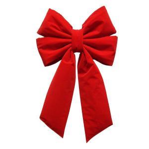 18 in. x 23 in. Commercial Red Velvet Bow