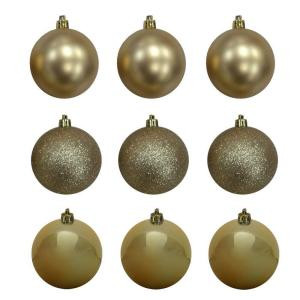 60 mm Gold Shatterproof Ornament (18-Count)