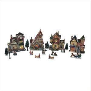 15.87 in. Ceramic Village Set (20-Piece)