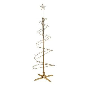 79 in. Rotating Gold Metal Ornament Displayer