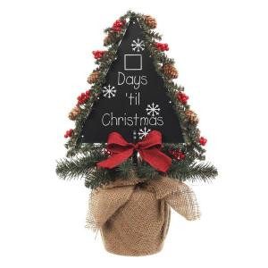 19 in. Triangle Chalkboard Tree with Burlap Base