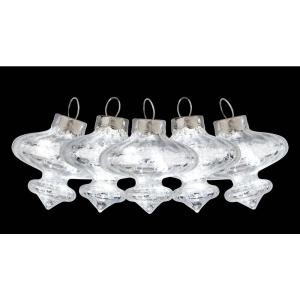 6 ft. 10-Light LED Silver Mercury Glass Battery-Operated Pendant Light Set