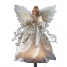 12 in. 10-Light Ivory and Gold Angel Tree Topper