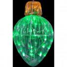 21 in. 35-Light Starry Night LED Crystal Green Splendor Ornament Light