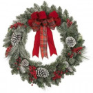30 in. Artificial Wreath with Snowy Pinecone and Berries