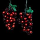 100-Light Cluster Burgundy Grape Light Set