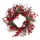 24 in. Red Berry Vine Wreath