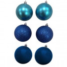 80 mm Blue Shatterproof Ornament (12-Count)