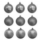 60 mm Silver Shatterproof Ornament (18-Count)