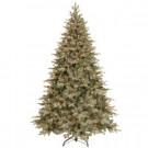 9 ft. Pre-Lit Alaskan Spruce Hinged Artificial Christmas Tree with Pinecones and 900 Ready-Lit Clear Lights