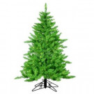 4.5 ft. Pre-Lit Lime-Green Ashley Artificial Christmas Tree with Green Lights