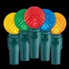 9.4 ft. 30-Light LED Multi-Color Battery-Operated Globe Light Set