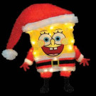 18 in. 3D Soft Tinsel SpongeBob in Santa Suit